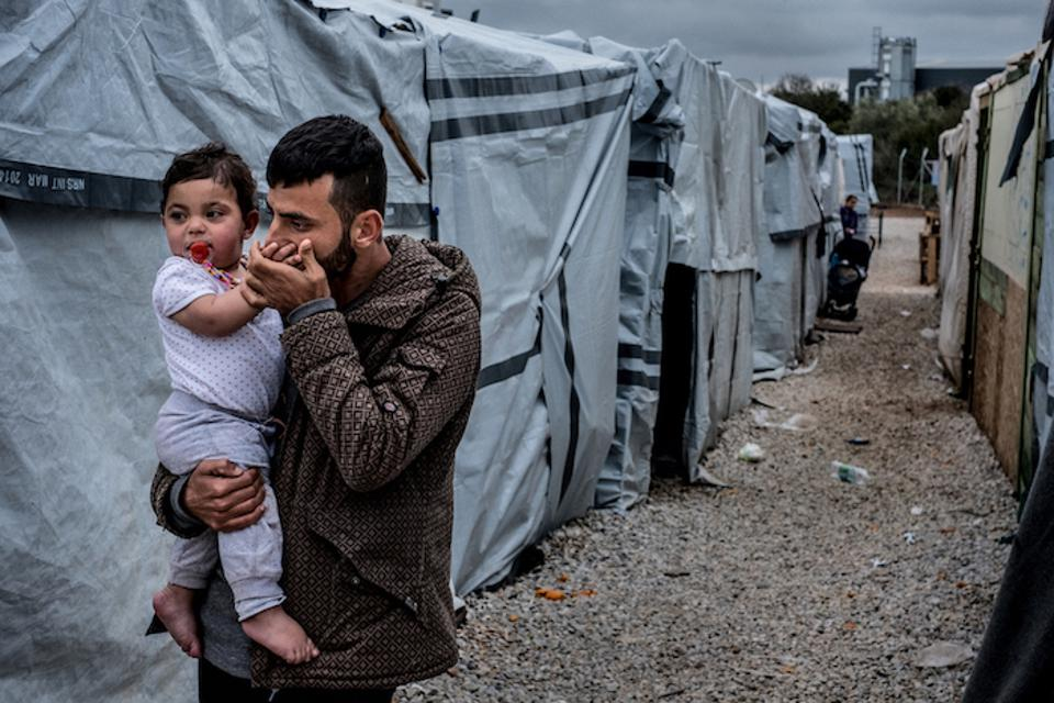 UNICEF help refugees displaced by violence in Iraq rebuild their lives in places like Ritsona refugee camp near Chalcis, Greece.