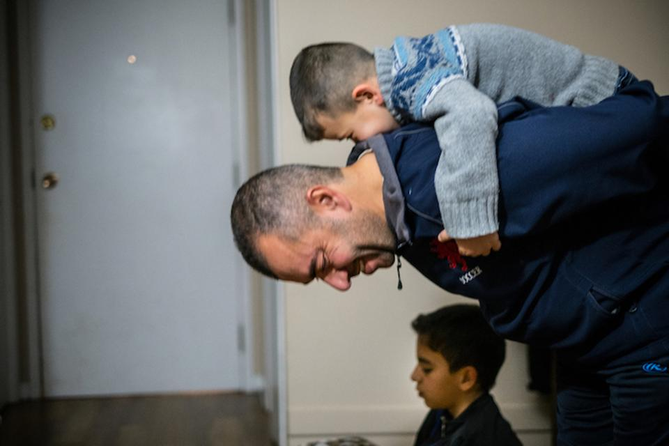 UNICEF helps Syrian refugee families displaced by violence rebuild their lives. This family lives in Charlottetown on Prince Edward Island, Canada.