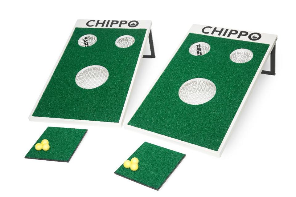 Two Chippo boards with mats and balls.