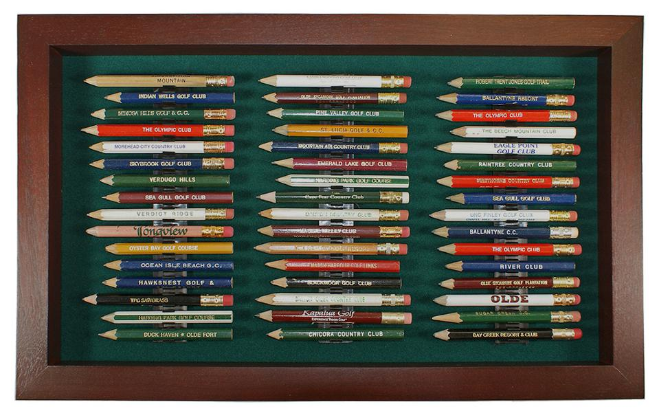 A 48-pencil holder for golf pencils.