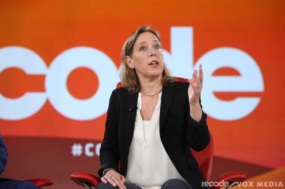 YouTube CEO Susan Wojcicki spoke on stage at Code Conference in Arizona on Monday evening.