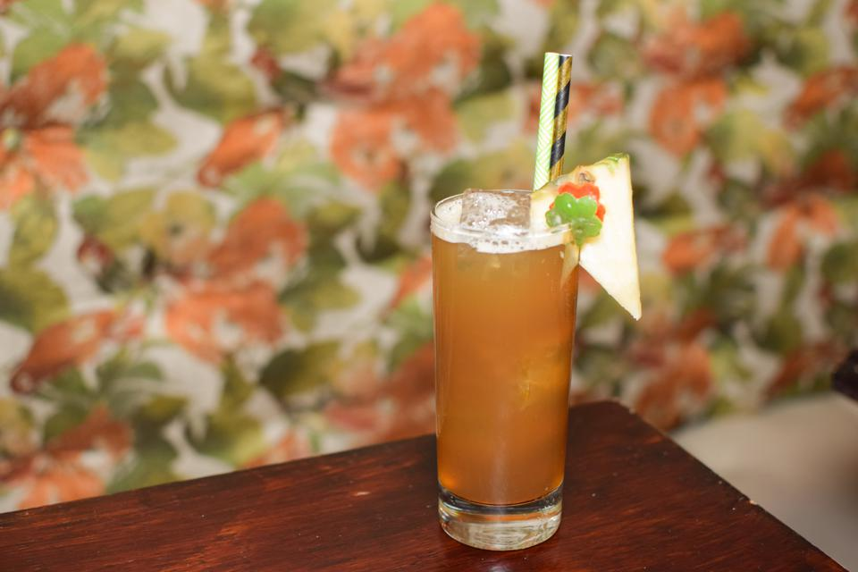 At Mother of Pearl in Manhattan, the Pepper Keenan comprises pineapple, pomegranate molasses, lime, bell pepper, jalapeño and agave.