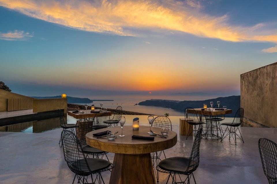Sunset dining from Andronis Concept restaurant