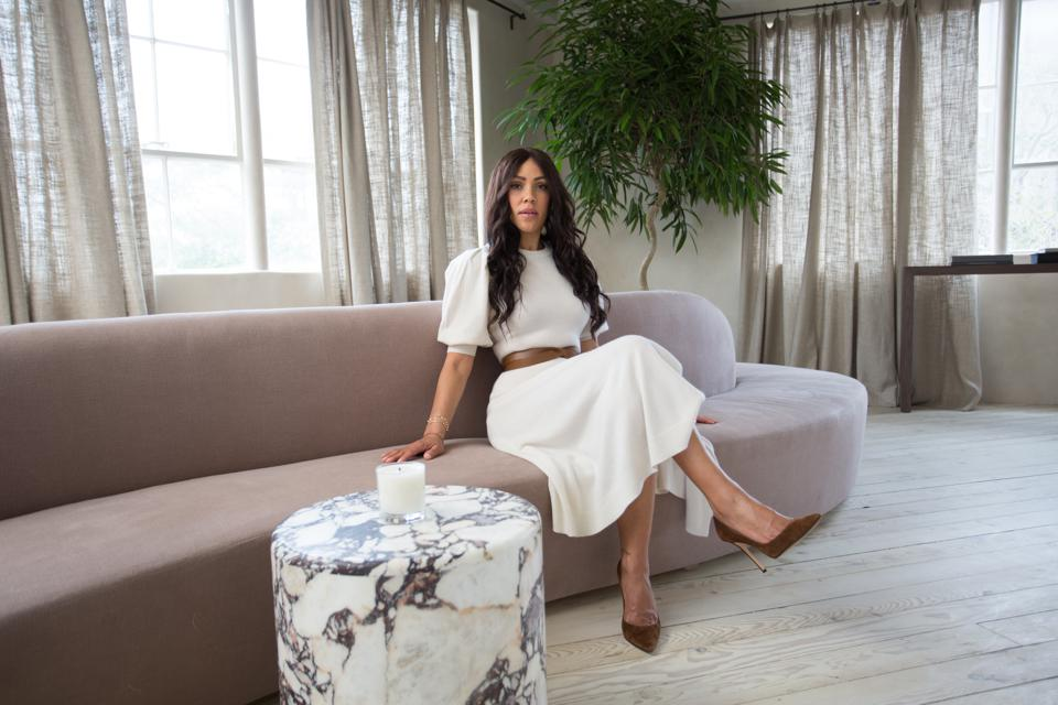Shani Darden in the reception area of her new Beverly Hills studio