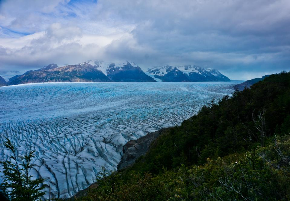 Grey Glacier is one of the most breathtaking sights of the Torres Del Paine O Circuit.