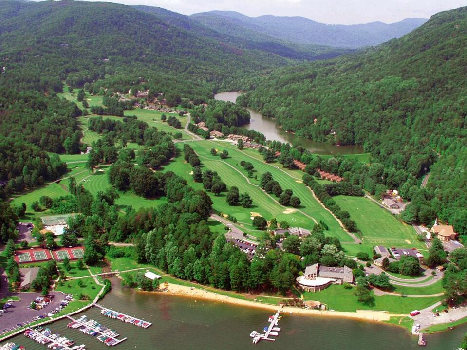 Lake Lure Golf overhead
