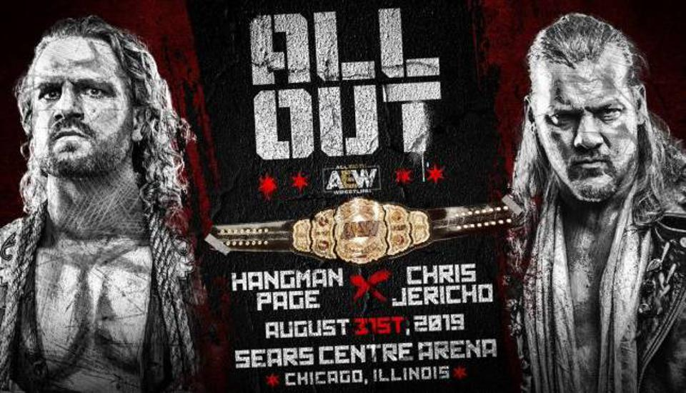 Adam Page chris jericho aew all out chicago sear centre