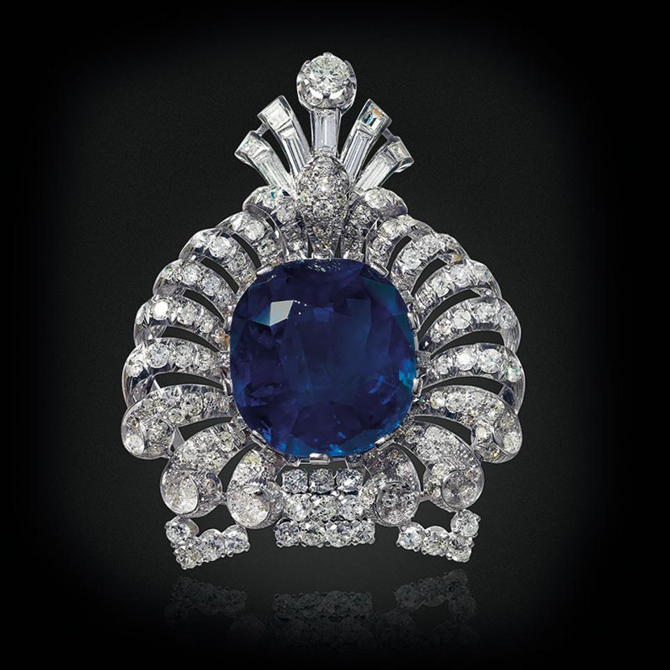 Lot-276_an_art_deco_sapphire_and_diamond_brooch