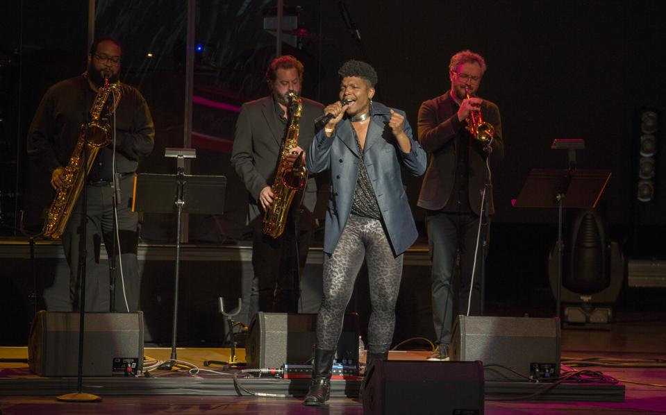 JC Brooks Band performs as the opening act for Lionel Richie. Tuesday, June 11, 2019 at Ravinia Festival in Highland Park, IL (Photo by Barry Brecheisen)
