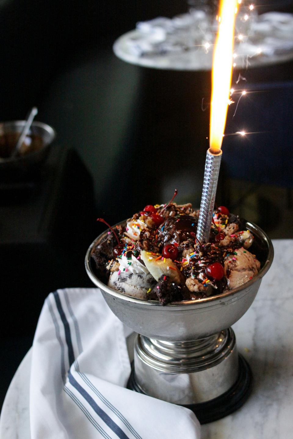 The Trophy Sundae at the Trophy Room on Palm Beach