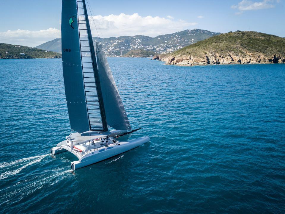 Donald Sussman's radical new catamaran off St Barth's