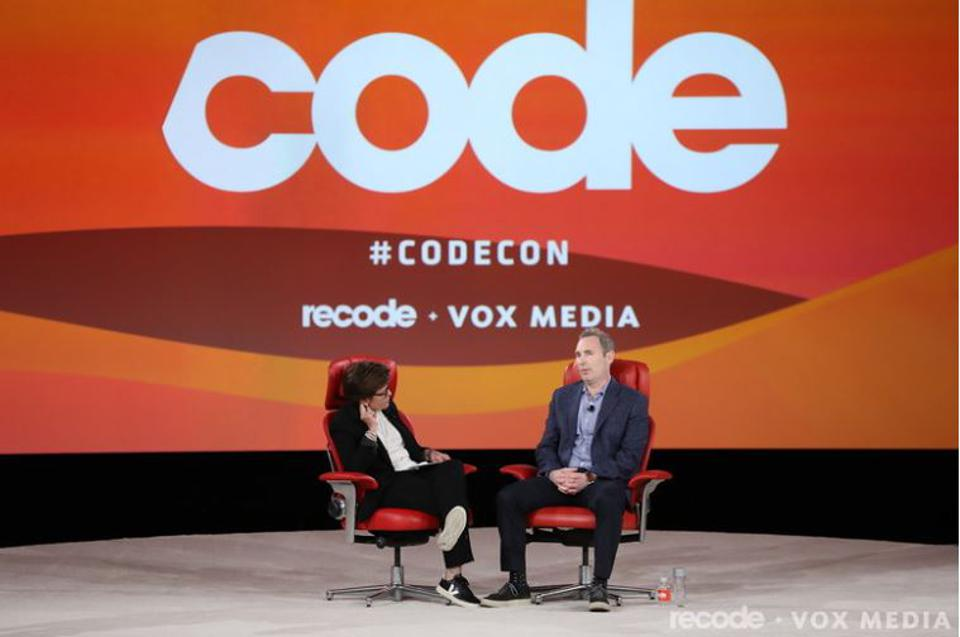 Andy Jassy, CEO of Amazon Web Services, spoke with Recode's Kara Swisher on Tuesday.