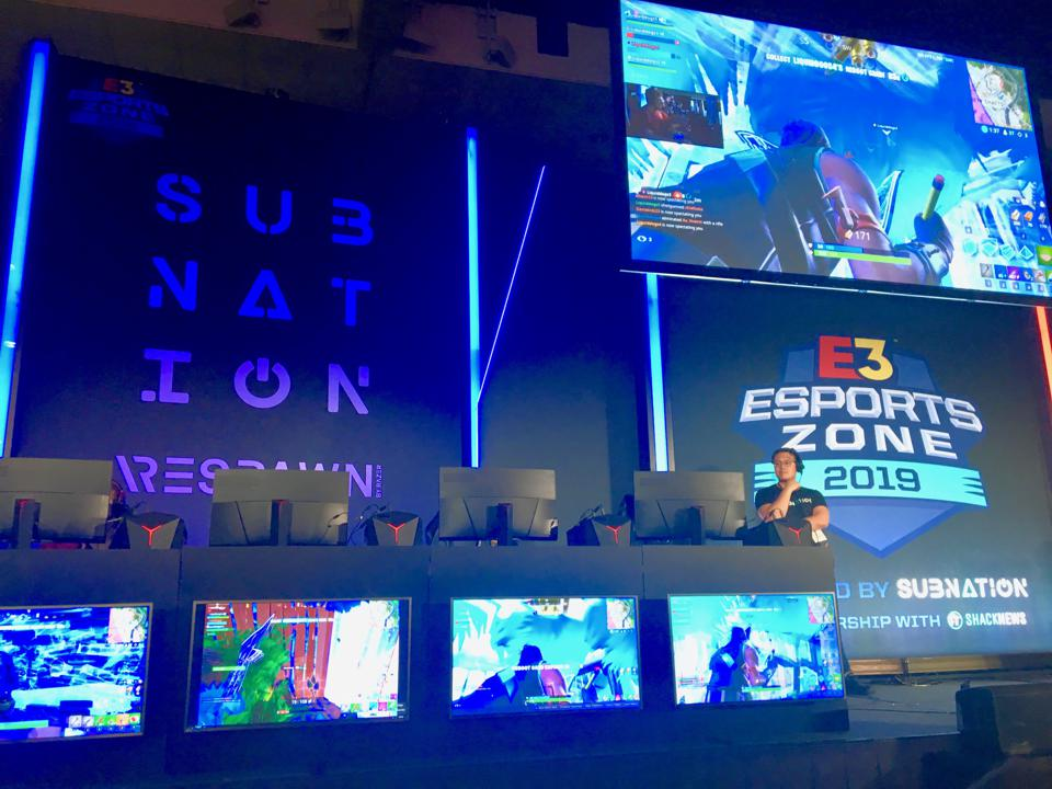 Onstage at E3 Esports Zone at 2019 E3 Conference in Los Angeles