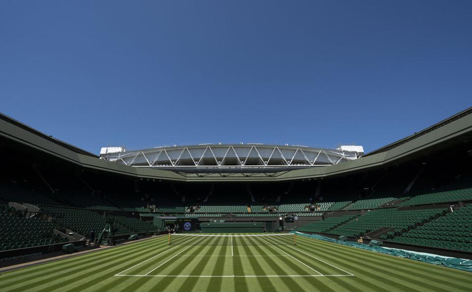 Wimbledon is the only Grand Slam event played on grass courts.