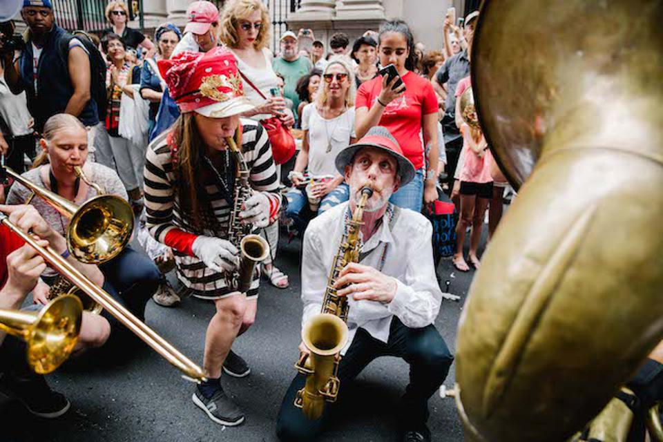 Musicians at Bastille Day on 60th Street