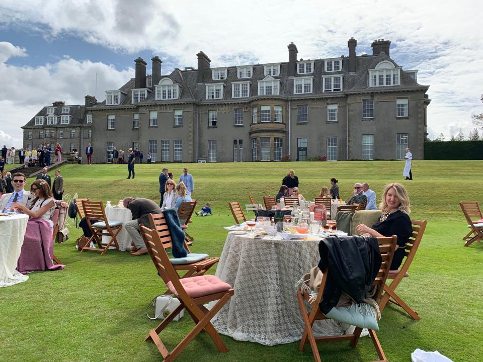 A picnic at Gleneagles in Scotland