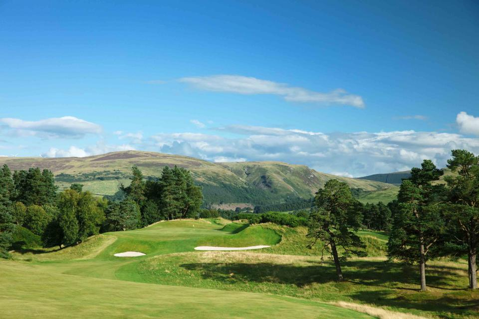 The 9th hole of the King's course at Gleneagles in Scotland.