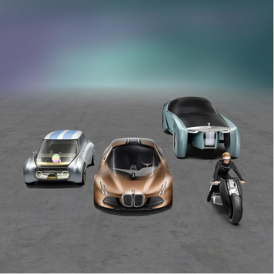 MINI, BMW, Rolls-Royce and Motorrad Vision Next 100 concept studies presented the future possibilities for the brands