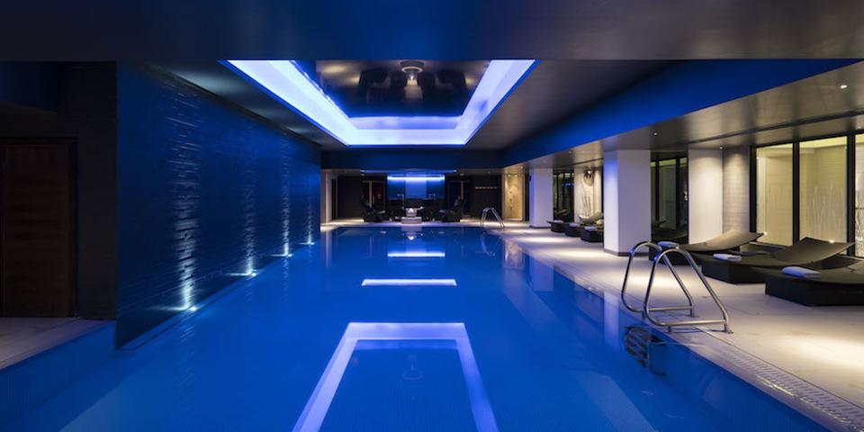 The swimming pool at the Gleneagles Health Club.