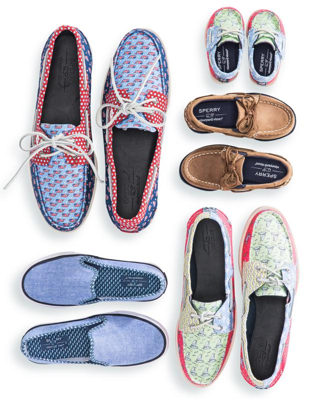 Sperry x Vineyard Vines boat shoe collection