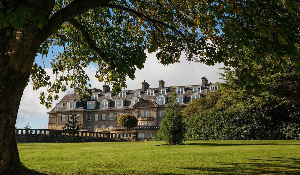 Gleneagles in Scotland, an exterior view.