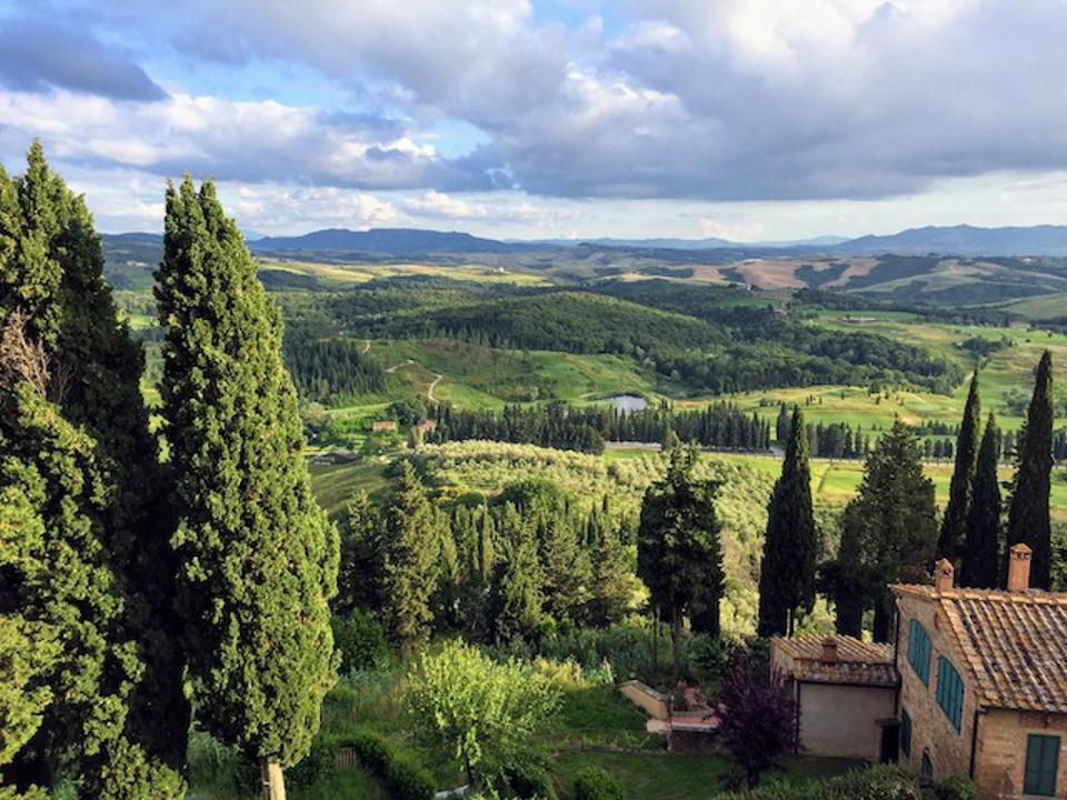 Sweeping views from Montaione in Tuscany