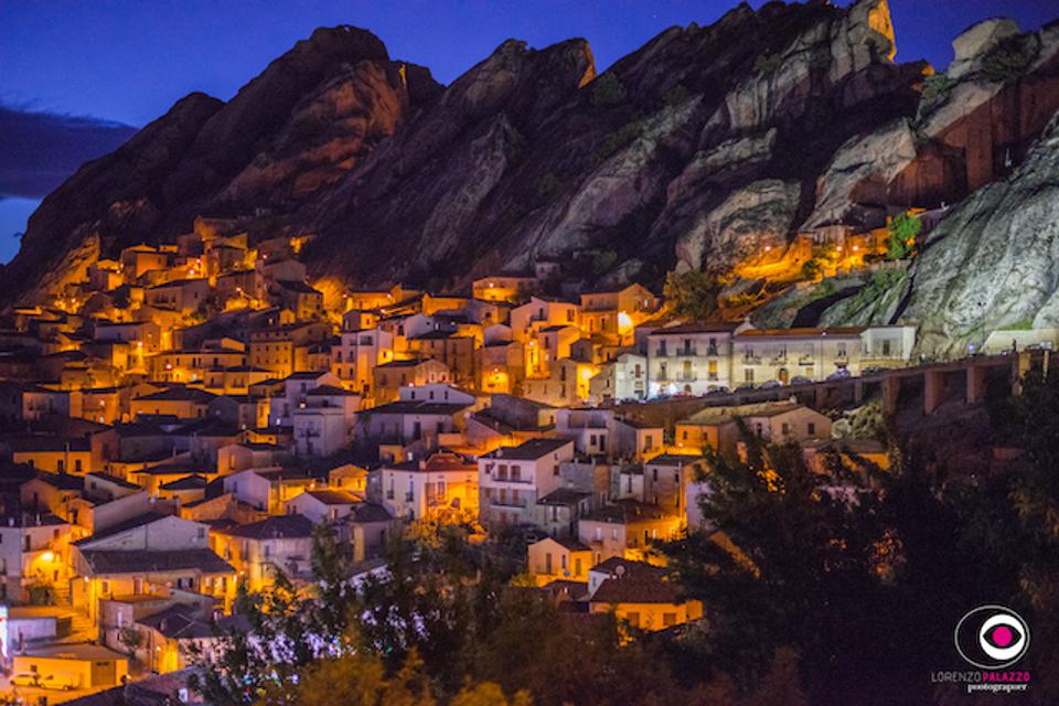 Pietrapertosa in Basilicata at night