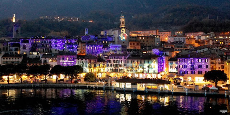 Lovere in Lombardy at night