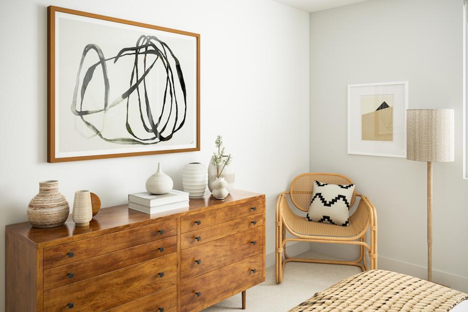 Bedroom rendering.