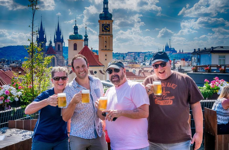 Eating Europe Prague beer tour - Kenny, second from left, with guests
