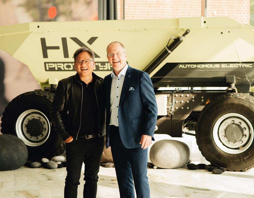 NVIDIA CEO and Volvo Group CEO_truck