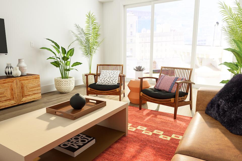 Livingroom rendering.