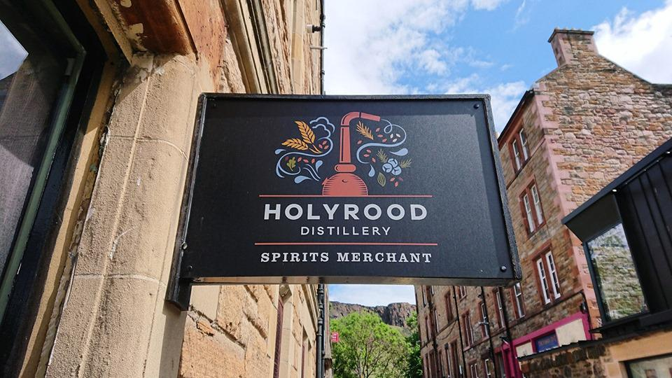 Holyrood distillery sign.