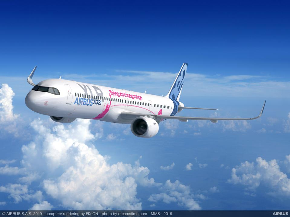 Image of new long range airliner, the Airbus A321XLR