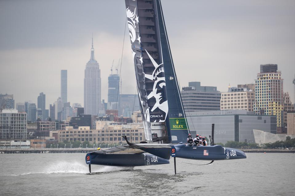 The SailGP world tour takes place in NYC this weekend.
