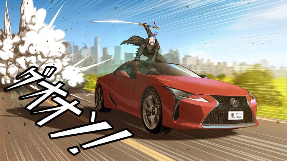 Lexus LC manga by Daniel Atanasov