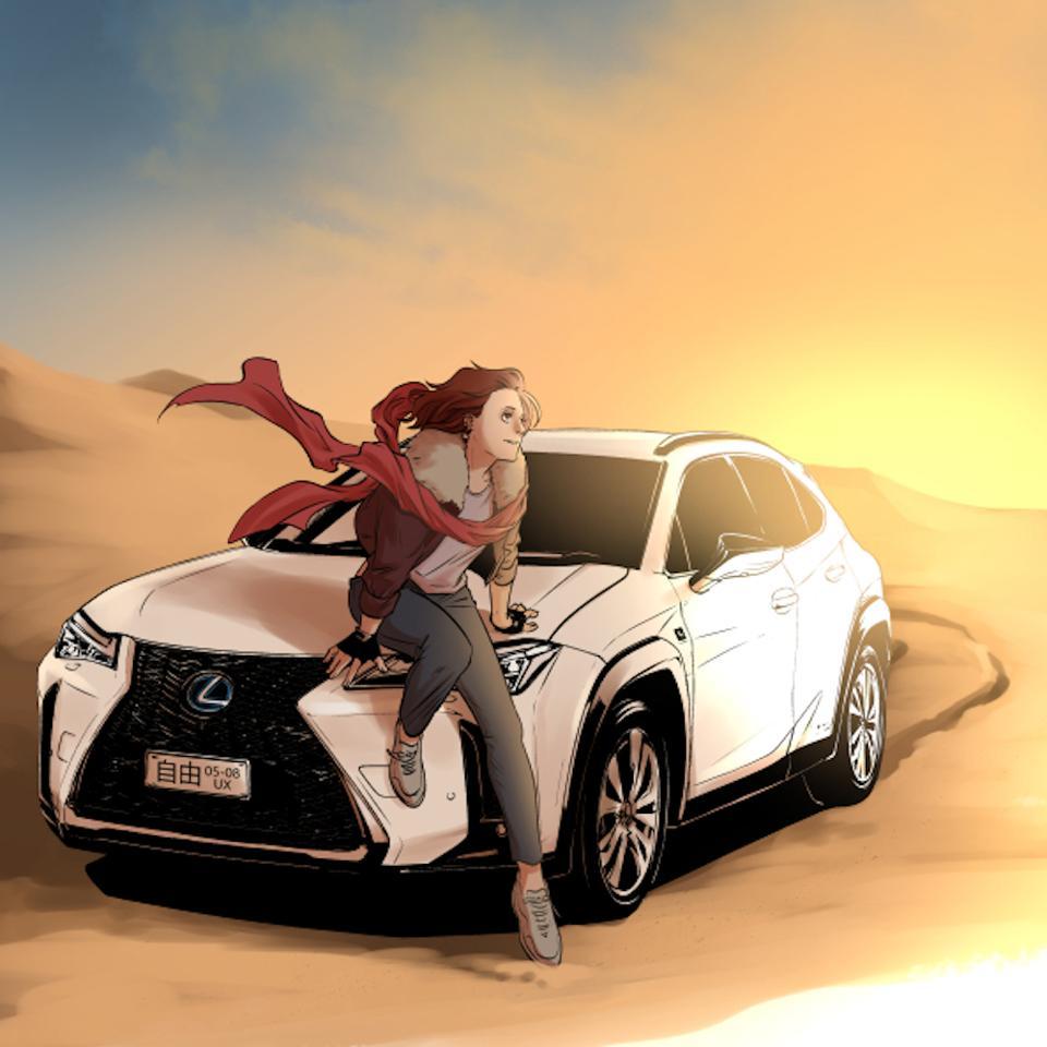Lexus UX by Japanese Manga artist Yishan Li