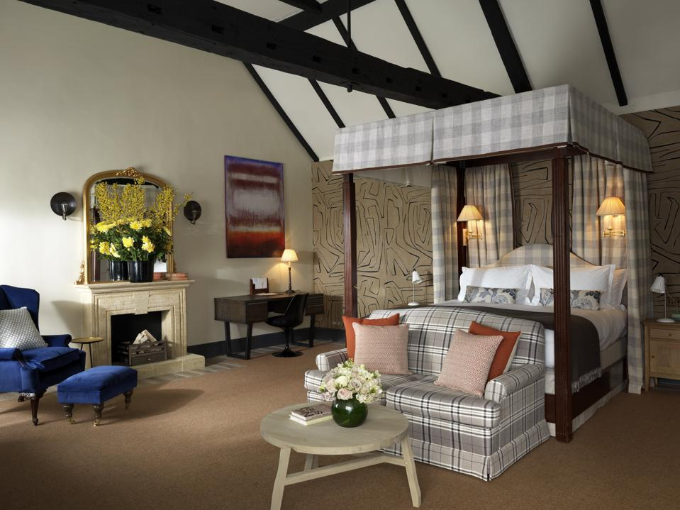 Stately accommodations are part of the appeal at The Stafford London.