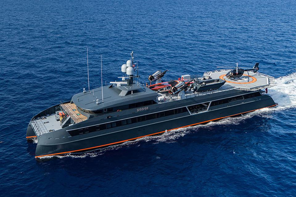 Superyacht support vessels like HODOR can carry aircraft, boats, submarines, and many other motorized craft.