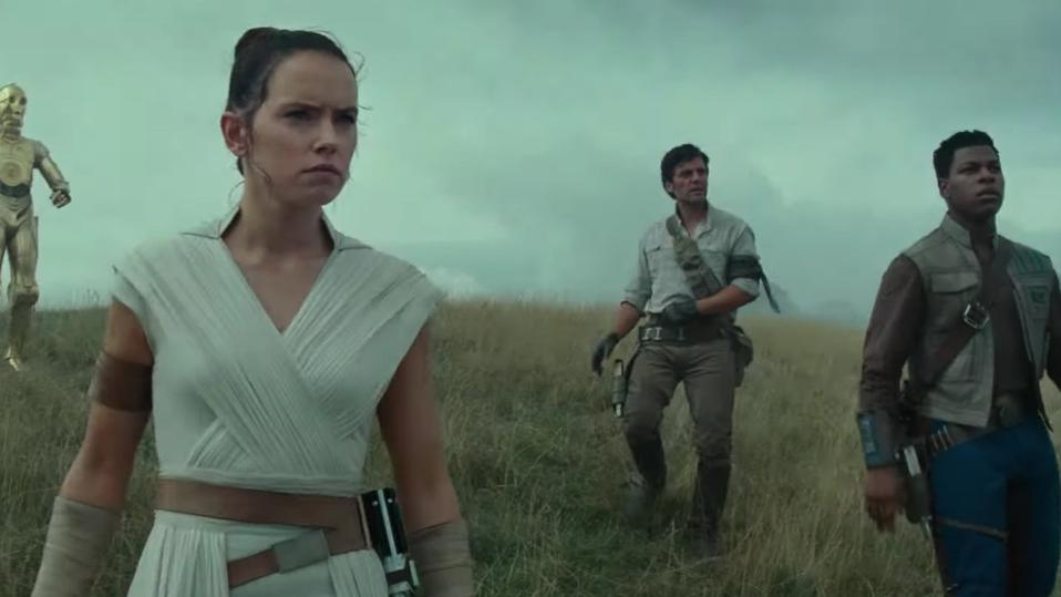 Daisy Ridley, John Boyega and Oscar Isaac in Walt Disney's 'Star Wars: The Rise of Skywalker'