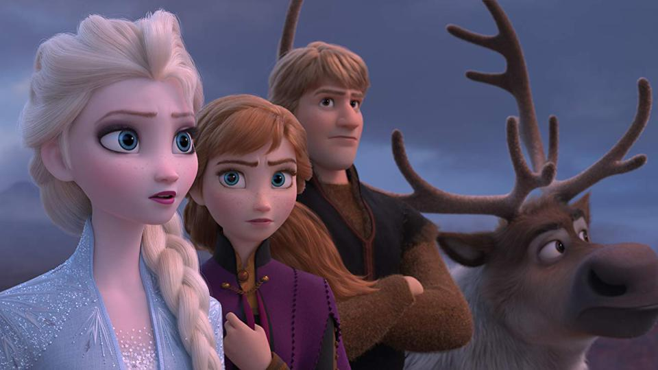 Kristen Bell, Idina Menzel, and Jonathan Groff in 'Frozen II'