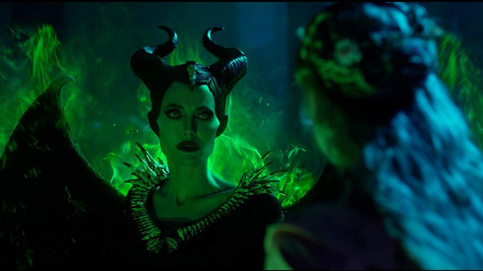 Angelina Jolie and Elle Fanning in 'Maleficent: Mistress of Evil'