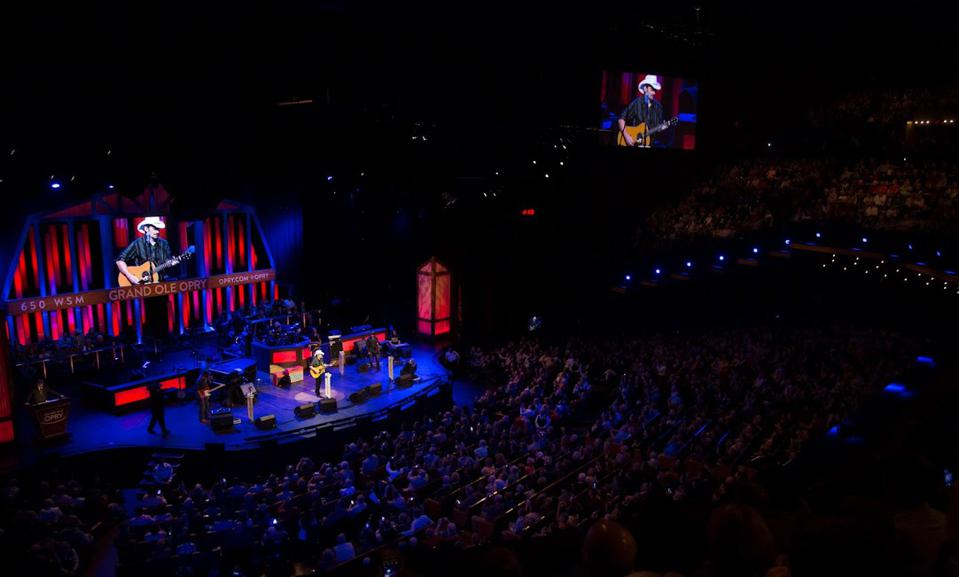 Music performance at the Grand Ole Opry