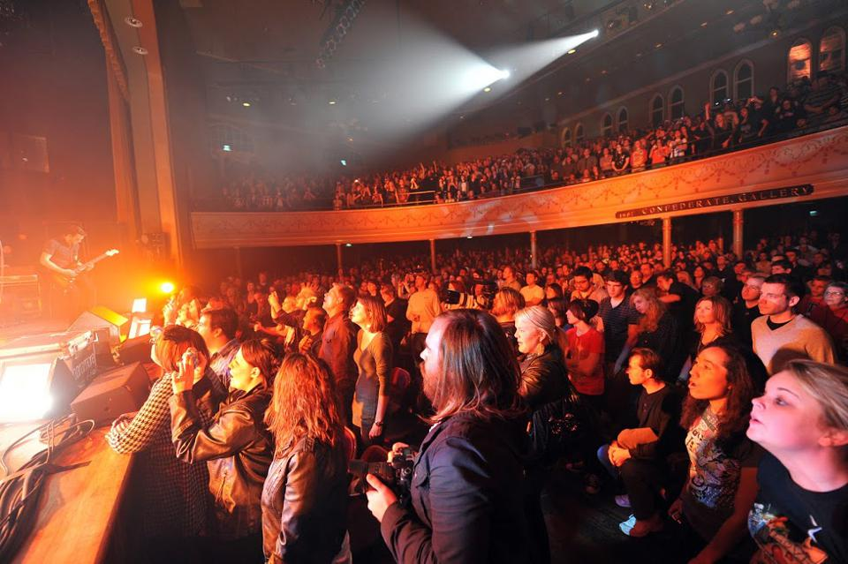 A concert at the Ryman Auditorium