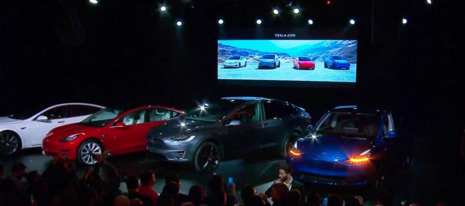 Tesla models S, 3, X and Y