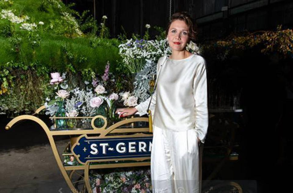 Actor and producer Maggie Gyllenhaal attends Maison St-Germain in Brooklyn.
