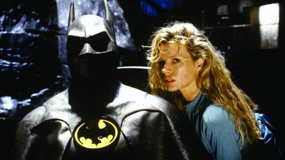 Michael Keaton and Kim Basinger in Tim Burton's 'Batman'