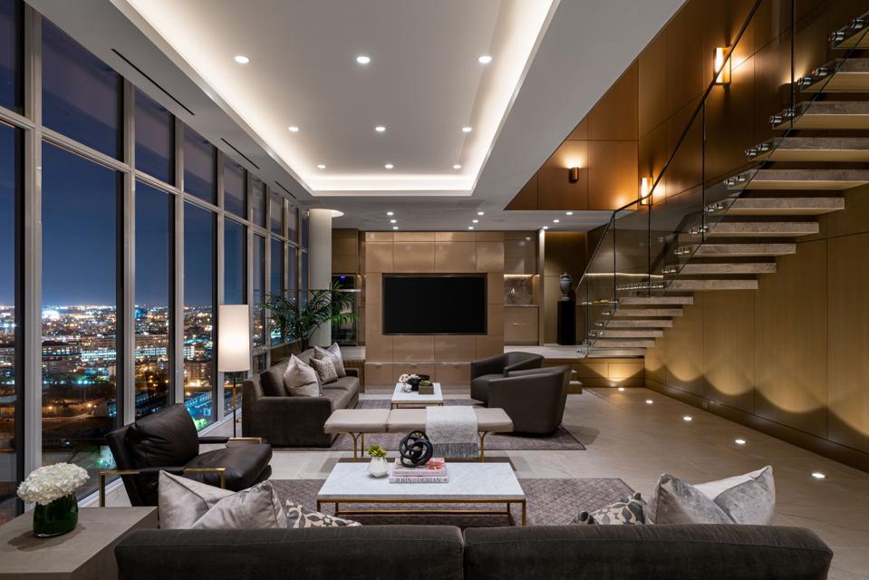 At $45,000 A Month, This Penthouse Is Chicago's Most ... on complex designs, loft designs, restaurants designs, industrial designs, unique architectural designs, 2 bedroom designs, flat designs, bungalow designs, maisonette designs, hotel designs, building designs, home designs, apartment designs, hostel designs, real estate designs, hall designs,
