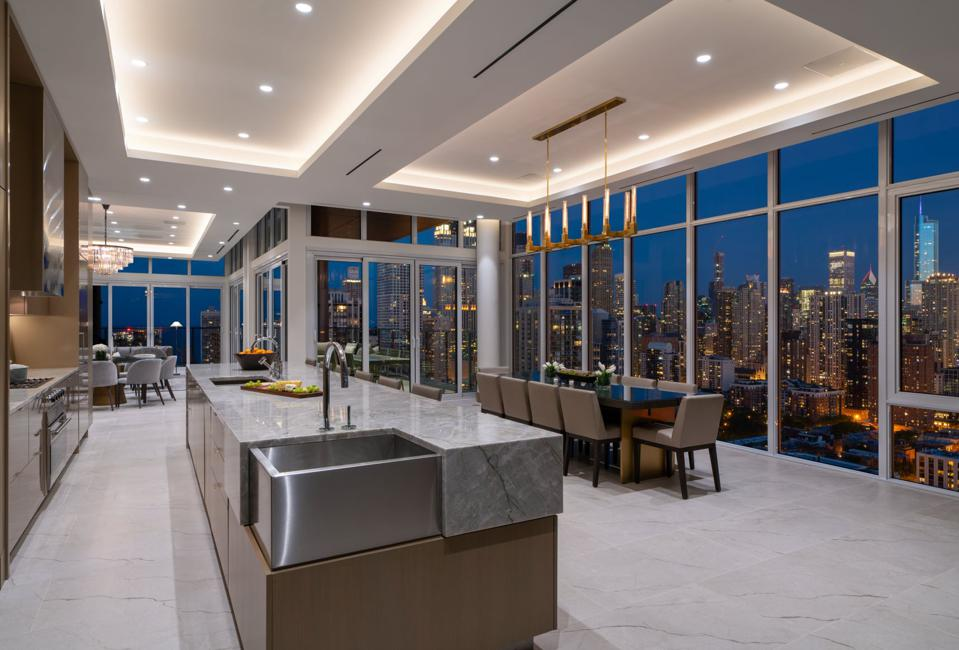 Onni penthouse kitchen and dining area