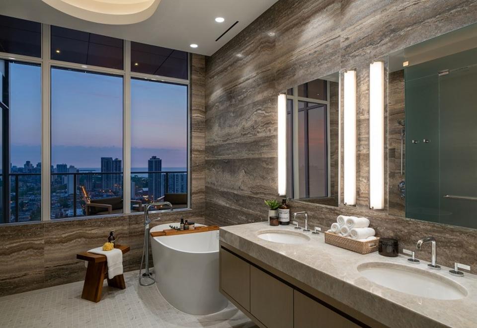 Penthouse soaking tub